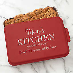 Recipe For a Special Mom Personalized Cake Pan with Red Lid