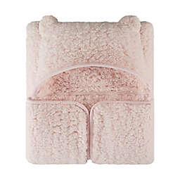 UGG® Classic Sherpa Hooded Throw Blanket in Pink