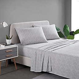 City Scene® Dixon Dots Cotton Percale Queen Sheet Set in Charcoal