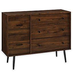 Forest Gate™ Modern 5-Drawer Dresser in Dark Walnut