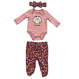 Sterling Baby 3-Piece Mama's Mini Headband, Bodysuit, and Pant Set in Pink