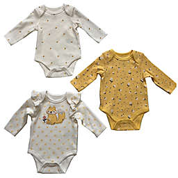 Sterling Baby 3-Pack Long Sleeve Bodysuits