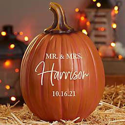 Classic Elegance Wedding Personalized Pumpkin in Orange