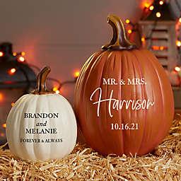 Classic Elegance Wedding Personalized Pumpkins