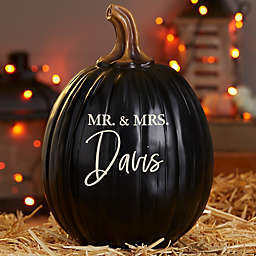 Classic Elegance Wedding Personalized Pumpkin in Black