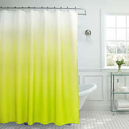 Ombre Weave 70-Inch x 72-Inch Shower Curtain in Lime