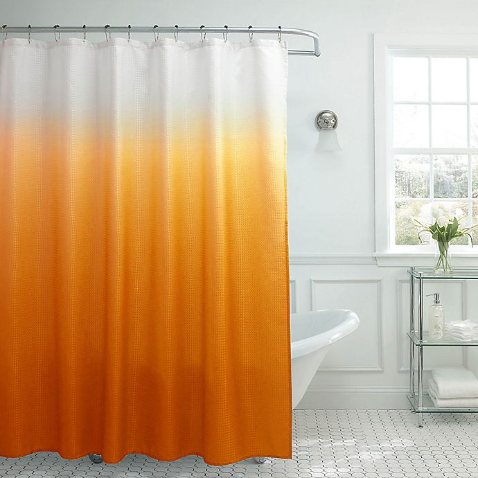 Alternate image 1 for Ombre Weave 70-Inch x 72-Inch Shower Curtain in Orange