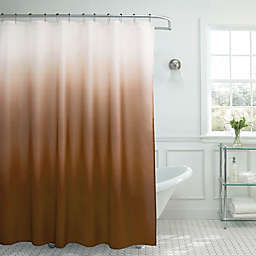 Ombre Weave 70-Inch x 72-Inch Shower Curtain in Chocolate