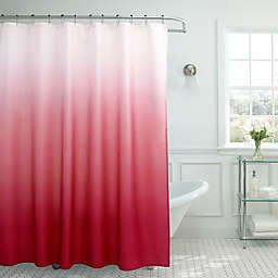 Ombre Weave 70-Inch x 72-Inch Shower Curtain in Barn Red