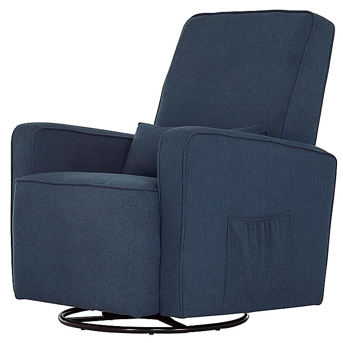 Alternate image 1 for évolur Holland Upholstered Swivel Glider with Lumbar Pillow