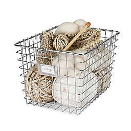 Spectrum® Small Metal Wire Storage Basket in Satin Nickel
