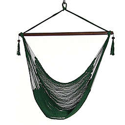 Sunnydaze Hanging Caribbean XL Hammock Chair in Green