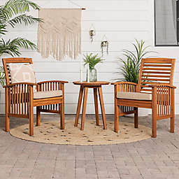 Forest Gate Boho Patio Chat 3-Piece Set in Brown