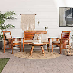 Forest Gate Boho Patio Chat 4-Piece Set in Brown