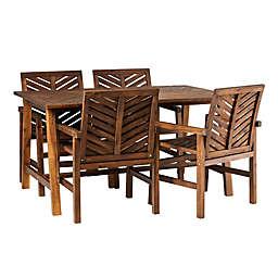 Forest Gate™ Boho Slat Outdoor 5-Piece Dining Set