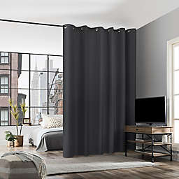 No. 918 Billie Noise Reducing 84-InchGrommet Room Divider Window Curtain Panel in Charcoal