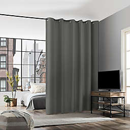 No. 918 Billie Noise Reducing 96-Inch Grommet Room Divider Window Curtain Panel in Gray