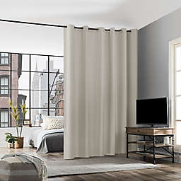 No. 918 Billie Noise Reducing 108-Inch Grommet Room Divider Window Curtain Panel in Pearl