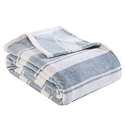 Stones Throw Stripe Ultra Soft Plush F/Q Blanket