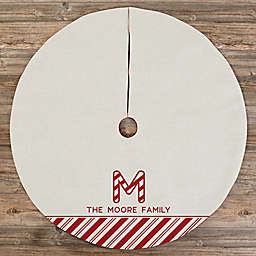 Candy Cane Lane Personalized Christmas Tree Skirt