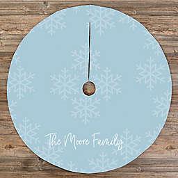 Elegant Snowflake Personalized Christmas Tree Skirt
