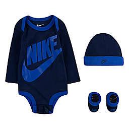 Nike® Futura 4-Piece Bodysuit, Hat and Bootie Set