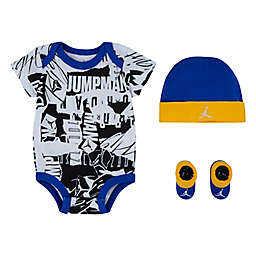 Jordan® 3-Piece Bodysuit, Bootie and Hat Set