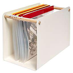 Squared Away™ Wood and Metal Hanging File Organizer
