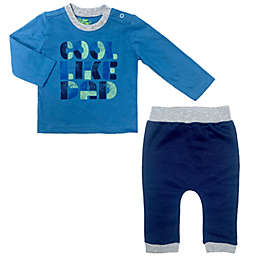 """Kapital K™ Size 12M 2-Piece """"Cool Like Dad"""" Tee and Jogger Set in Blue"""