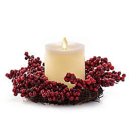 Luminara® Berries Pillar LED Candle Centerpiece in Ivory