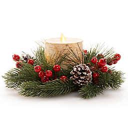 Luminara® Holiday Centerpiece Pillar LED Candle in Birch