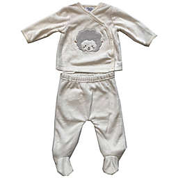 Sterling Baby Sheep 2-Piece Footed Pant Set in Ivory