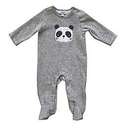 Sterling Baby Panda Velour Footie in Grey