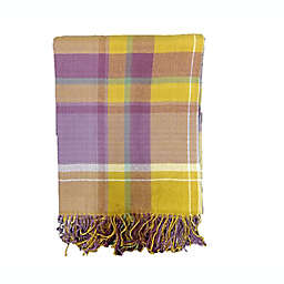 Bee & Willow™ Plaid Fringe Woven Outdoor Throw Blanket