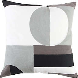 Studio 3B™ Embroidered Colorblock Square Throw Pillow in Black