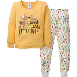 Gerber® 2-Piece Deer Snug Fit Pajamas in Yellow