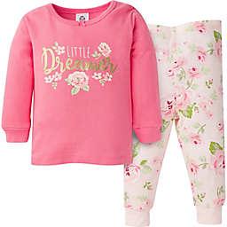 Gerber® 2-Piece Rose Snug Fit Pajamas in Pink