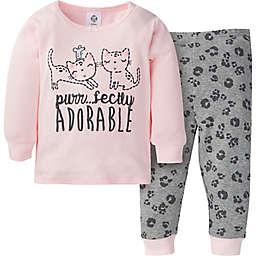 Gerber® Size 24M 2-Piece Leopard Snug Fit Pajama Set in Pink