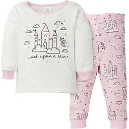 Gerber® 2-Piece Castle Snug Fit Pajamas in Purple