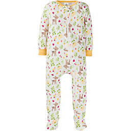 Gerber® Size 12M Deer Snug Fit Footed Cotton Pajama in Ivory