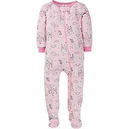 Gerber® Castle Snug Fit Footed Cotton Pajama in Purple