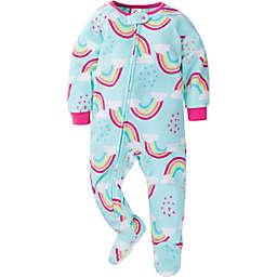 Gerber® Size 24M Rainbow Fleece Footed Pajamas in Blue