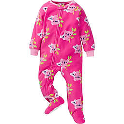 Gerber® Koala Fleece Footed Pajamas in Pink