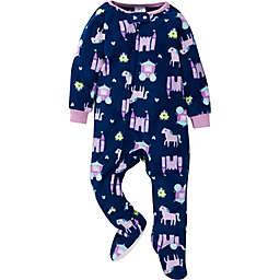 Gerber® Princess Fleece Footed Pajamas in Blue