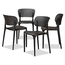 Baxton Studio Jorg Stackable Dining Side Chairs (Set of 4)