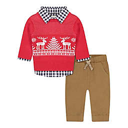 Beetle & Thread® Size 18-24M 3-Piece Holiday Sweater Set