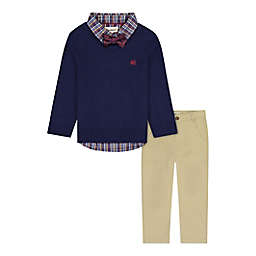 Beetle & Thread® Size 2T 4-Piece Sweater, Shirt, Pant and Bow Tie Set in Navy/Khaki