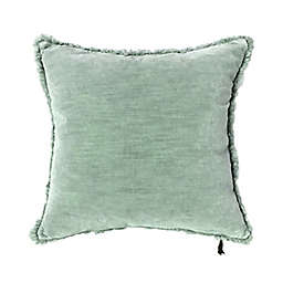 Bee & Willow™ Washed Velvet 20-Inch Square Throw Pillow in Quarry