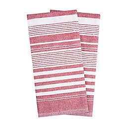 T-fal® 2-Pack Skipping Stripe Dual Purpose Kitchen Towels