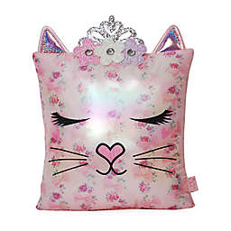 OMG Accessories® Bella Flower Crown Throw Pillow in Pink